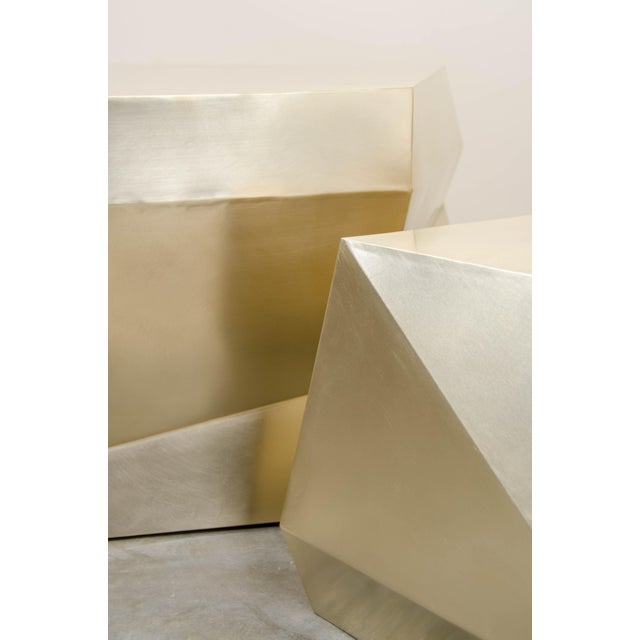 Puzzle Facet Cocktail Table - Brass For Sale In Los Angeles - Image 6 of 8