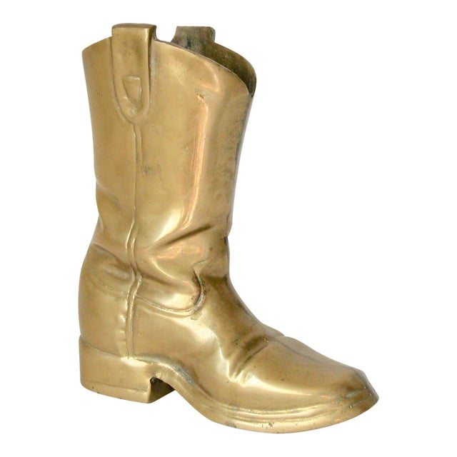 Brass Cowboy Boot For Sale