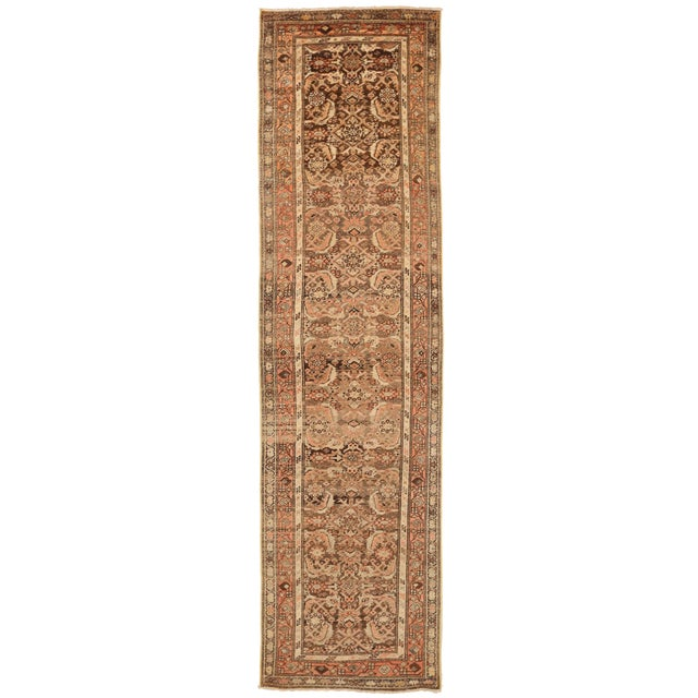 1930s Vintage Persian Zanjan Style Rug - 3′2″ × 12′9″ For Sale - Image 10 of 10