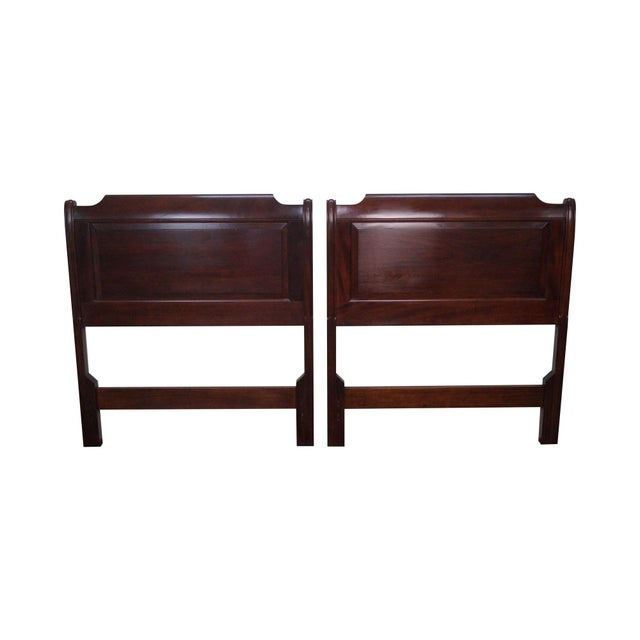 Stickley Solid Mahogany Twin Size Headboards - A Pair - Image 1 of 9
