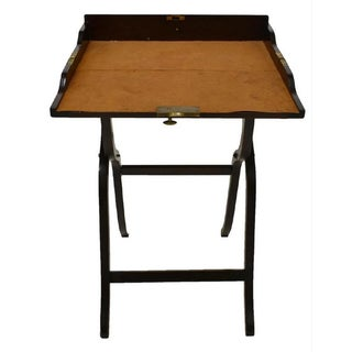 19th Century English Mahogany Campaign Folding Writing Table Desk Preview