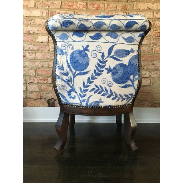 Vintage Slipper Chair With Suzani Upholstery - Image 6 of 7