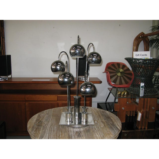 Robert Sonneman Chrome Ball Waterfall Lamp - Image 8 of 11