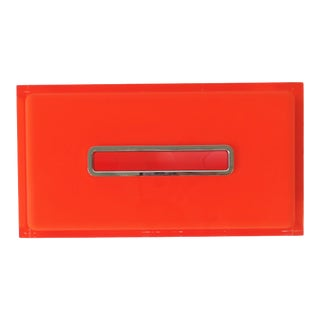Orange Acrylic Tissue Box Cover Holder For Sale