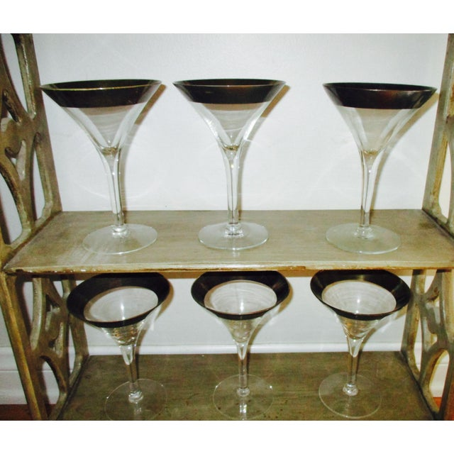 Dorothy Thorpe Silver Rim Champagne Glasses - Set of 6 - Image 6 of 10
