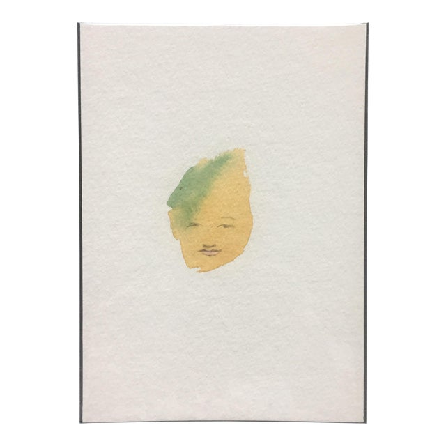 Minimalist Abstract Face Watercolor - Image 1 of 4