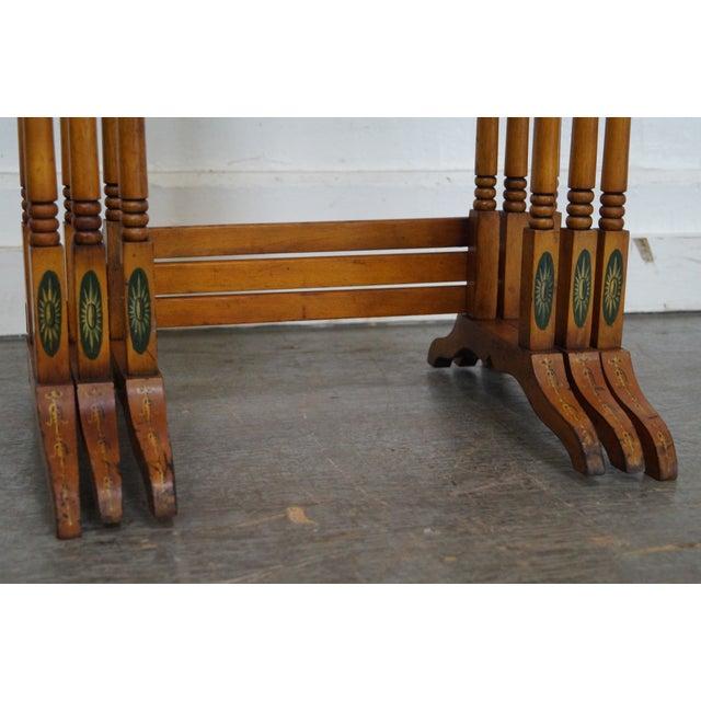Antique Wood Nesting Tables Set Of 3 ~ Antique adams hand painted nesting tables set of