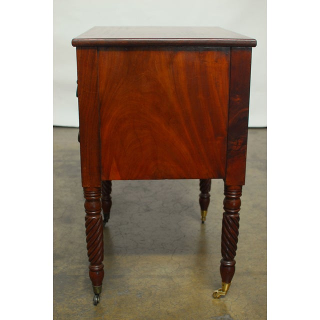 19th Century Federal Mahogany Work Table - Image 5 of 9