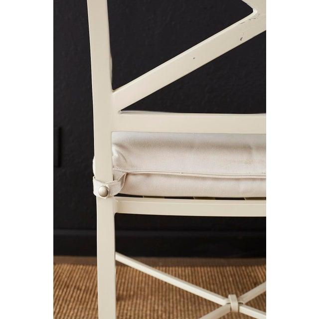 Metal Set of Six Brown Jordan Aluminium Patio Garden Chairs For Sale - Image 7 of 13