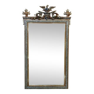 19th Century French Napoleon III Period Silver & Gold Mirror For Sale