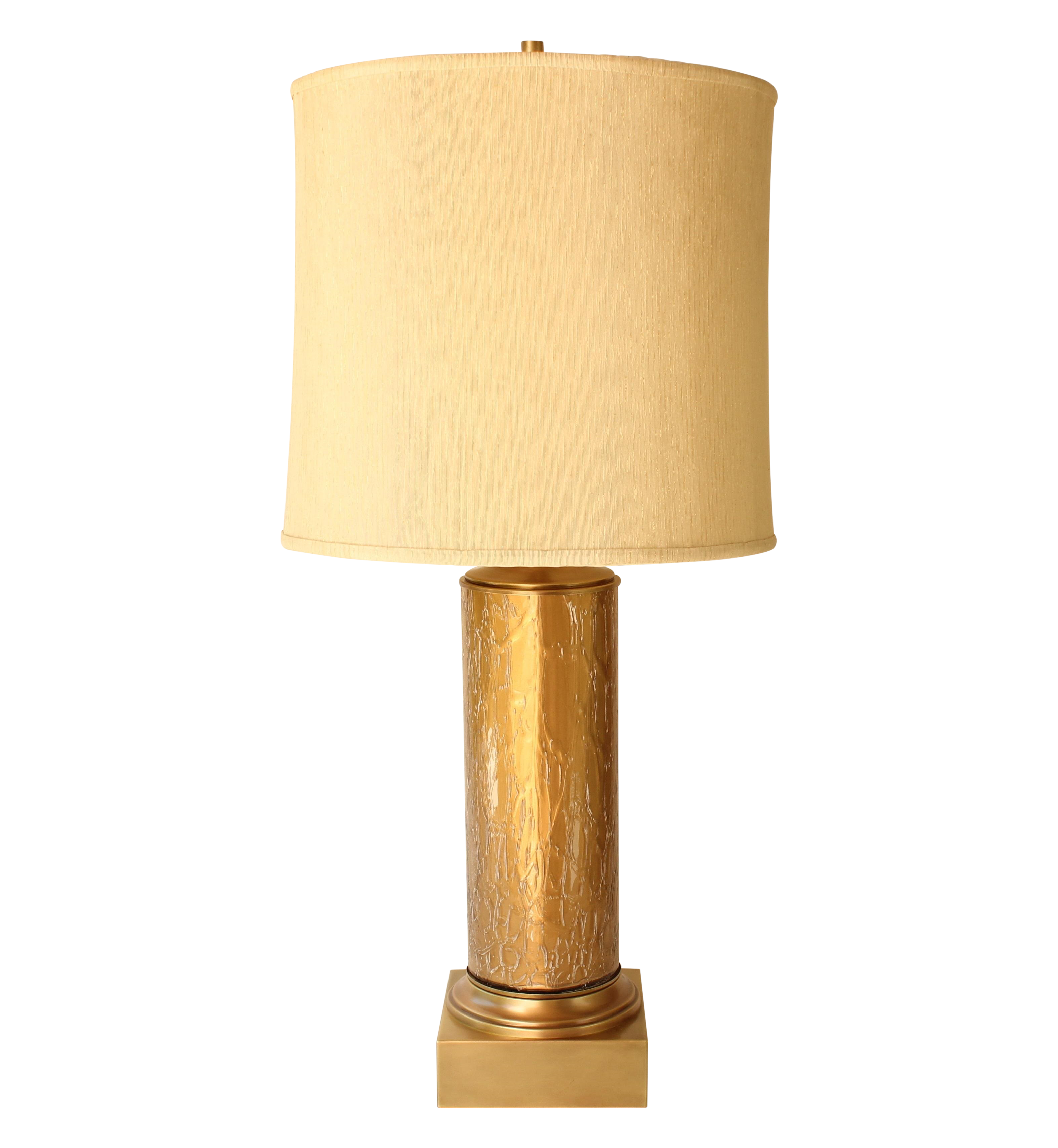 Gold Crackle Glass Table Lamp