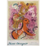 Image of 1960 Original Danish Exhibition Poster, Marc Chagall, Charlottenborg, Woman on a Red Horse For Sale