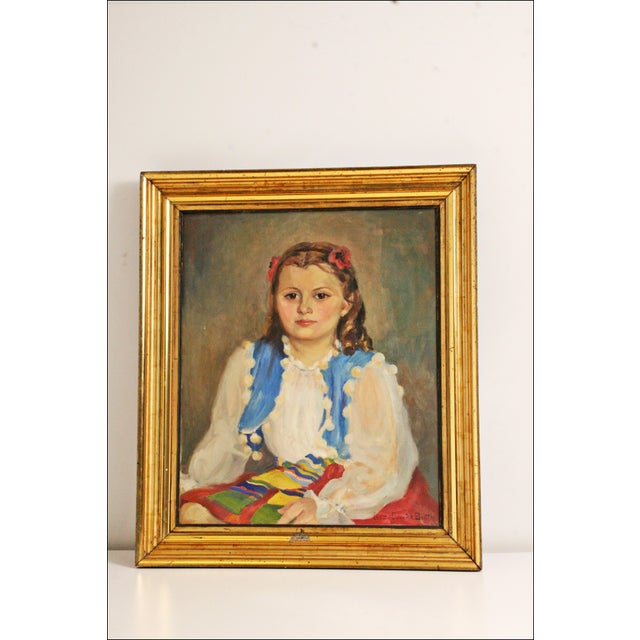 Vintage painting by Inez Dunnick Smith - Lancaster, Pennsylvania, USA Oil on canvas portrait a seated woman. Painting...