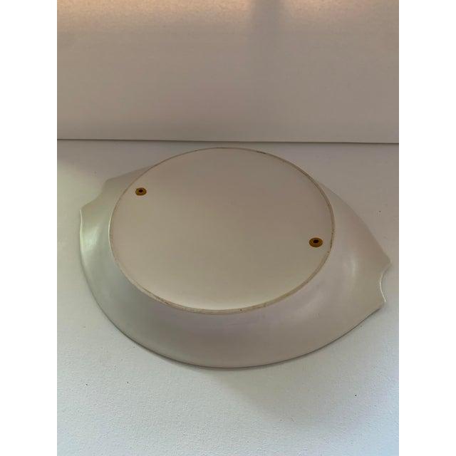 1950s Herb Cohen for Hyalyn Porcelain Ceramic Divided Serving Platter For Sale - Image 4 of 6