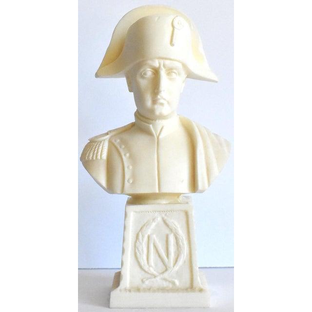 Vintage Italian Resin Napoleon Bust on Pedestal For Sale - Image 12 of 12