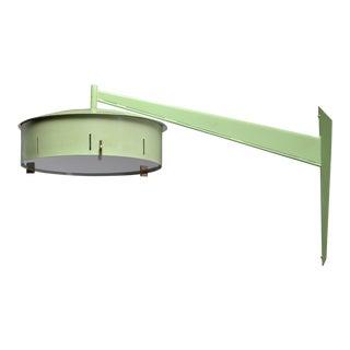 Italian 1950s Stilnovo Wall Applique in Pale Green Metal For Sale