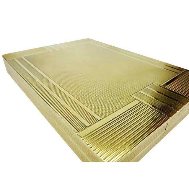 18-Karat Gold Art Deco Cigarette Case For Sale In Los Angeles - Image 6 of 10