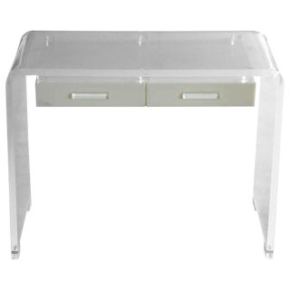 Lucite Waterfall Desk or Vanity