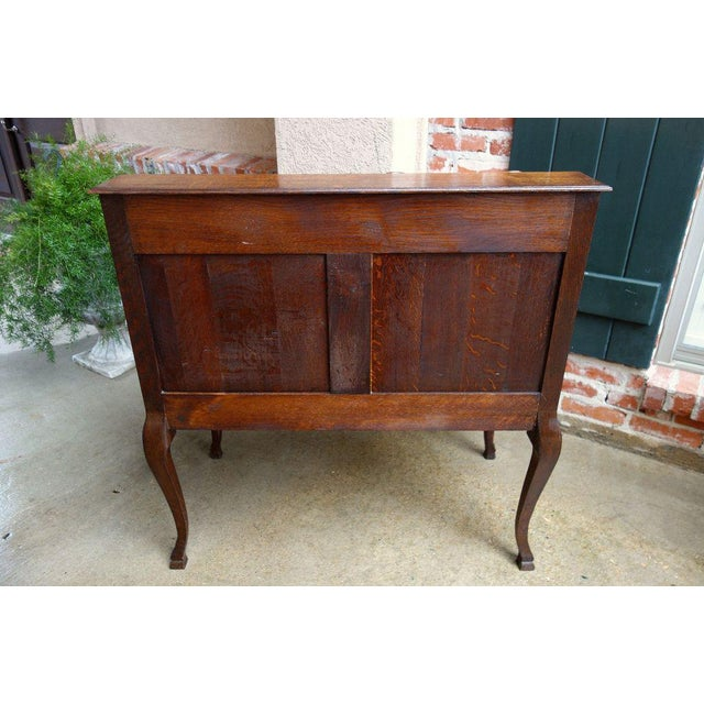 """Direct from France A lovely antique French carved """"drop front"""" secretary/desk with quintessential French style from top to..."""