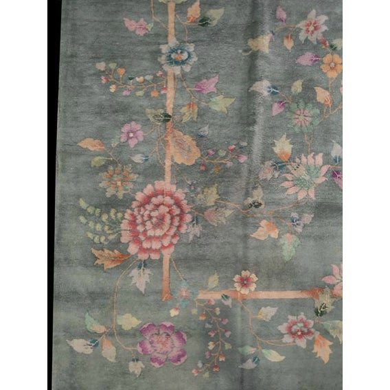 "Antique Chinese Art Deco Rug 8'10"" X 11'8"" For Sale - Image 10 of 12"