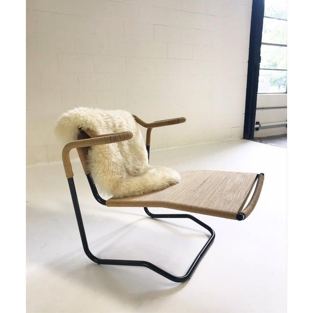 Modern Dan Johnson for California Living Model 2750 Lounge Chair With Brazilian Sheepskin For Sale - Image 3 of 9