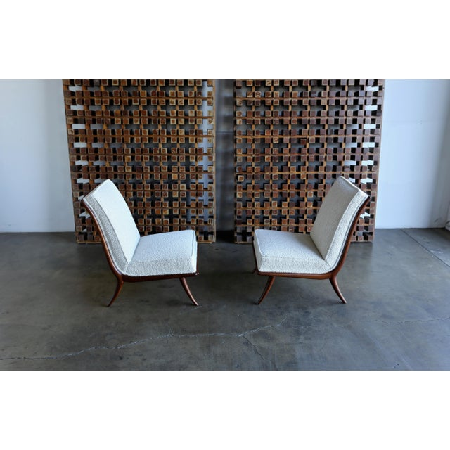 T.H. Robsjohn-Gibbings for Widdicomb Slipper Chairs - a Pair For Sale - Image 9 of 12
