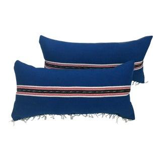 Southwestern Serape Lumbar Pillows - a Pair For Sale