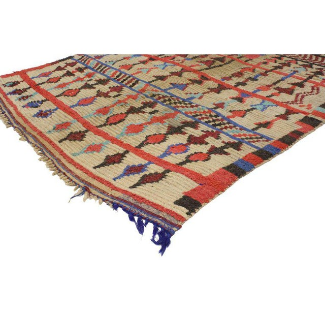 Mid 20th Century Vintage Mid-Century Berber Moroccan Rug - 4′7″ × 6′9″ For Sale - Image 5 of 7