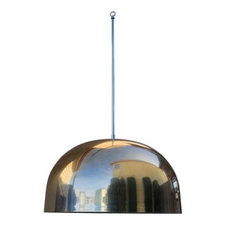 1960s Mid-Century Modern Bell Brass Plated Pendant Lamp For Sale