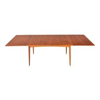Hans J. Wegner Model At-312 Teak + Oak Drop Leaf Dining Table For Sale