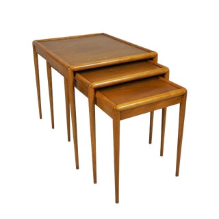 T.H. Robsjohn-Gibbings Nesting Tables for Widdicomb - Set of 3 For Sale