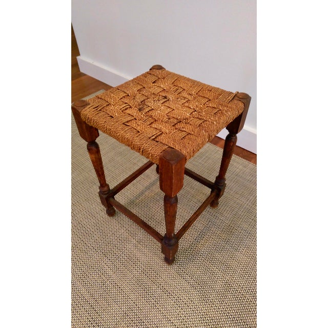 Rope 19th-C. Turned Wood & Rope Stool For Sale - Image 7 of 9