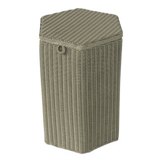 English Wicker Garden Hexagonal Linen Hamper by Lloyd Loom For Sale