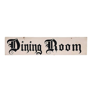 Dining Room Sign For Sale