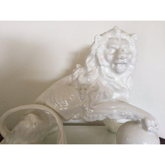 Large Vintage Spanish Ceramic Lion - Image 5 of 6