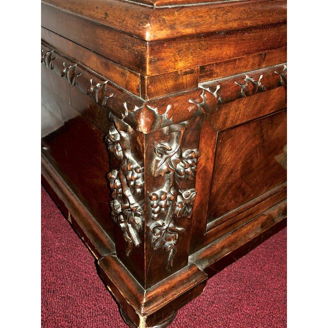 19th Century Rosewood Rococo Carved Dowry Chest Lead Lined For Sale In New York - Image 6 of 13