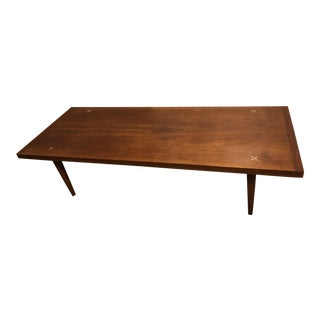 Mid-Century Modern American of Martinsville Coffee Table or Bench For Sale