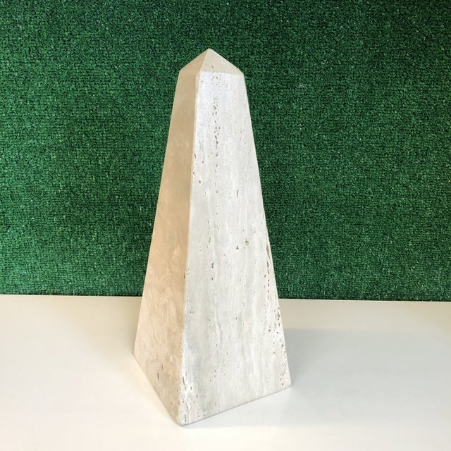Mid Century Travertine Obelisk For Sale - Image 9 of 9