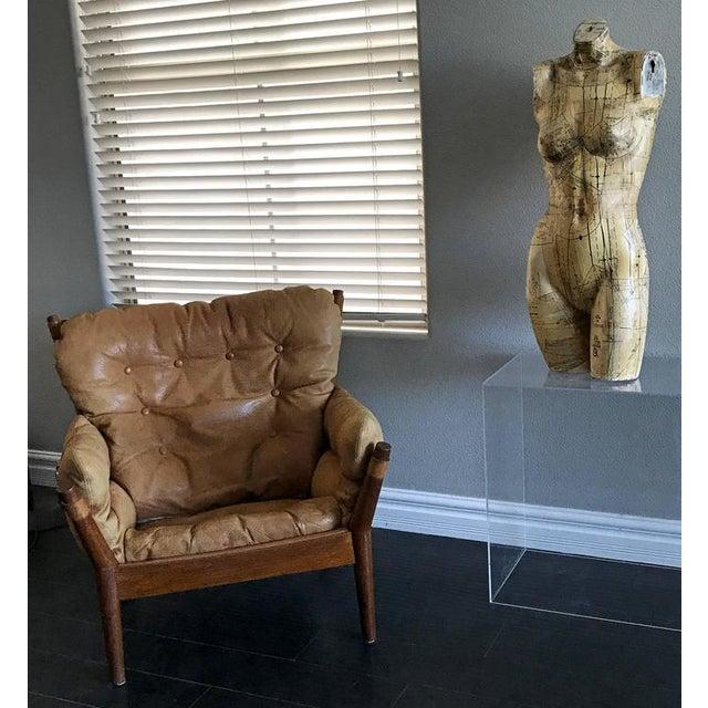 Brown 1960s John Mortensen for Magnus Olesen Model 4521 Lounge Chair For Sale - Image 8 of 10