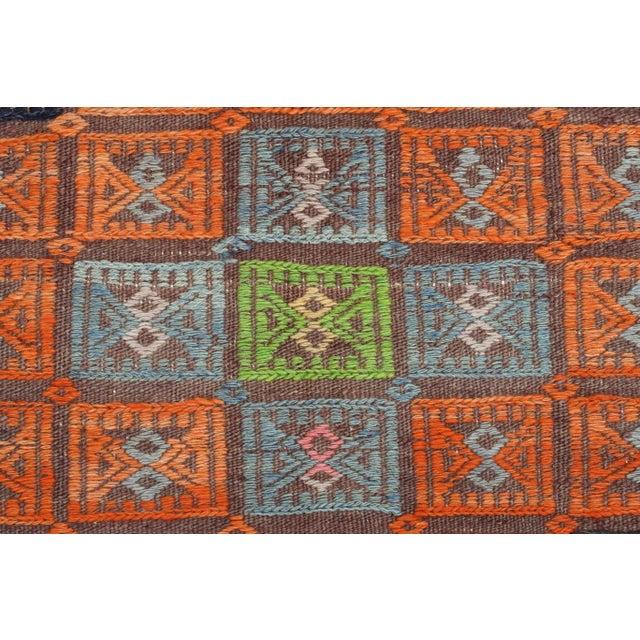 Burnt Orange Vintage Turkish Kilim Rug-6′ × 12′8″ For Sale - Image 8 of 13