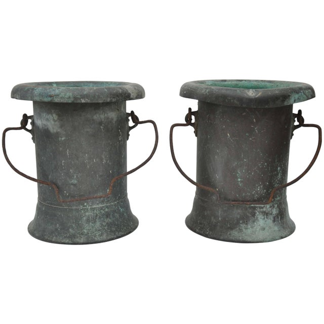 19th Century Pair of Verdigris Vessels From France For Sale - Image 11 of 11
