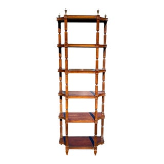 Vintage Thomasville Traditional Hepplewhite Style Bookcase For Sale