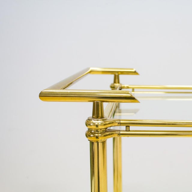 Italian Brass & Glass Bar Cart - Image 3 of 10