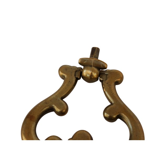 Early 20th Century French Brass Drawer Pulls, a Pair For Sale - Image 5 of 6