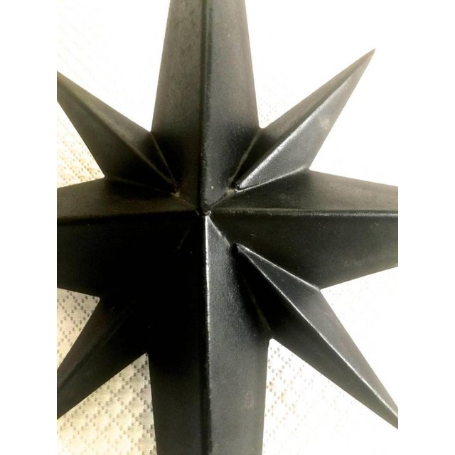 Tom Dixon Awesome Pair of Wrought Iron Star Sconces Attributed to Tom Dixon First Period For Sale - Image 4 of 7