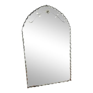 Early 20th Century Etched Mirror For Sale