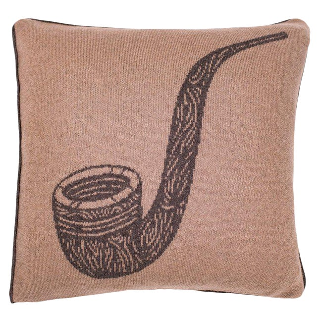 Pipe Cashmere Pillow For Sale