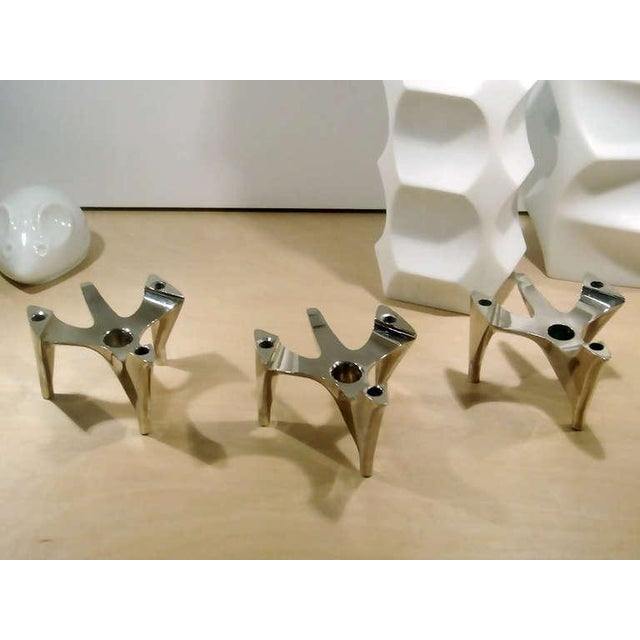 "1970s 1970s Brutalist Hammonia-Motard ""Vogelflug"" Candle Holders For Sale - Image 5 of 10"