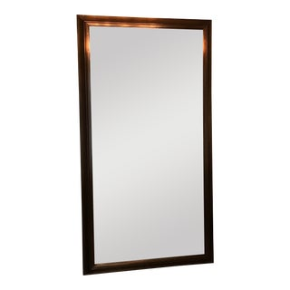 Restoration Hardware English Aged Bronze XLarge Leaning Mirror For Sale