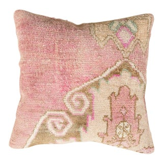 Vintage Designer Wool Pink Sofa Pillow For Sale